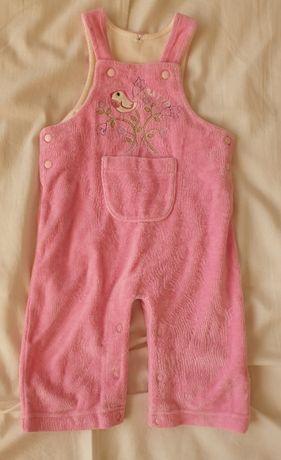 Spodnie ogrodniczki dla dziewczynki Batyr różowe stan bardzo dobry