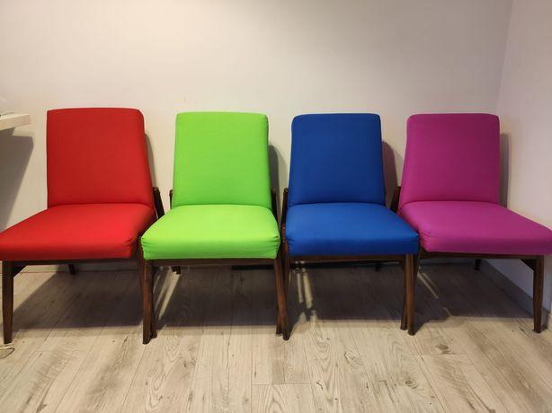 Fotel PRL, retro, odnowione, komplet, odświeżone