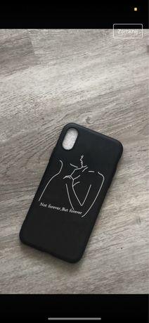 Czarny case etui iphone x