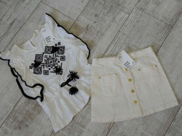 Zestaw H&M bluzka spódniczka 4-5 l