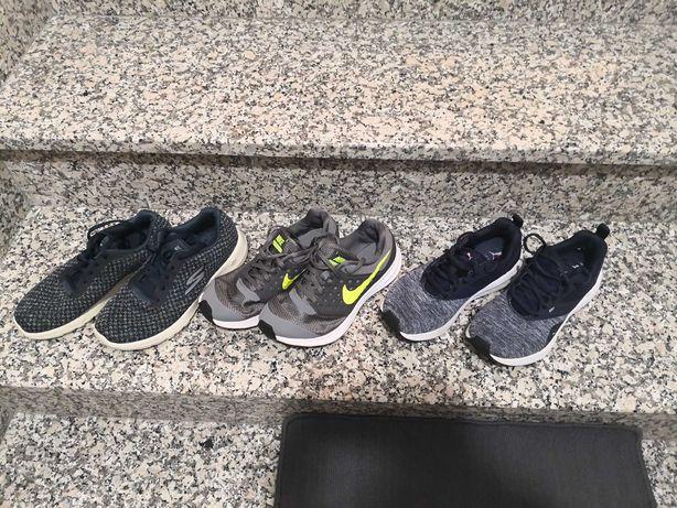 Lote de 3pares de sapatilhas mulher Nike, skechers, puma, 38