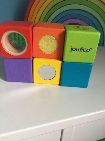 Drewniane Klocki sensoryczne Discover 6el  Joueco