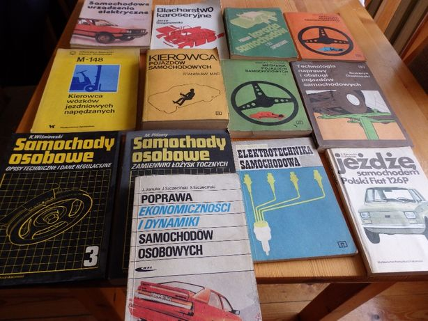 książki o tematyce samochodowej