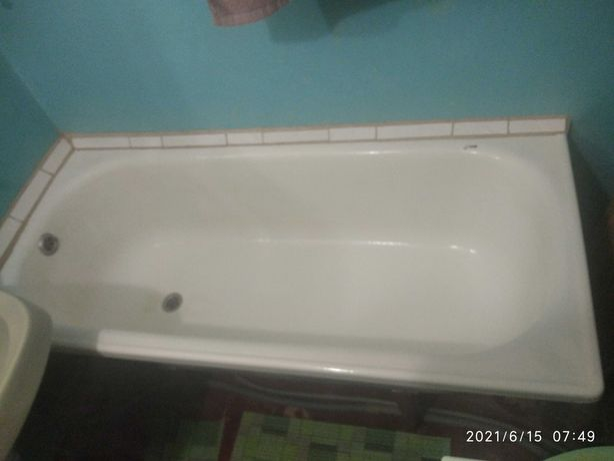 Продам ванну сталеву емальовану 150х70 б/у з ножками