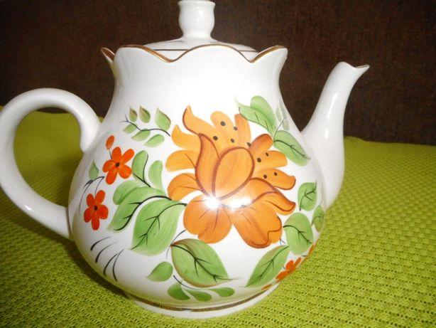 Чайник керамический с ручной росписью