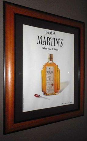 Quadro Publicitário Whisky James Martin's