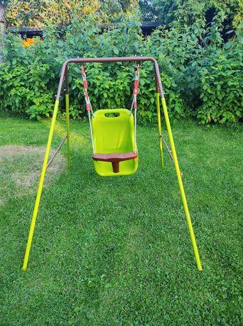 Metalowa Kubełkowa Huśtawka Megi 4iQ ogrodowa na działkę dla dziecka