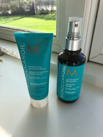 Moroccanoil  масло для волос. glimmer shine (100ml) and styling cream