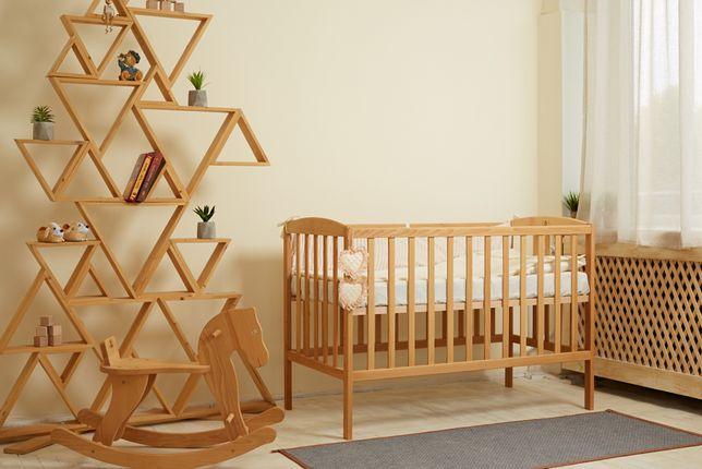 Детская новая кроватка, натуральное дерево бук.Доставка в день заказа