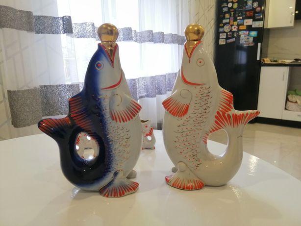 Рыбки. Фарфоровые набор СССР коньячный