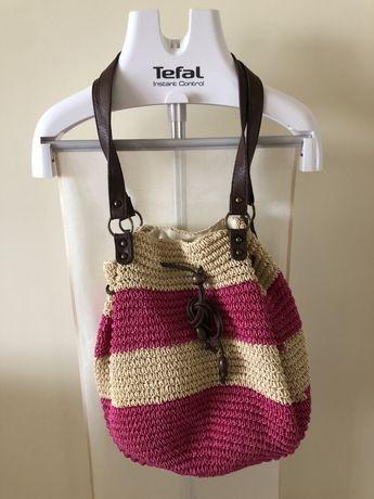 Сумка-торба плетёная