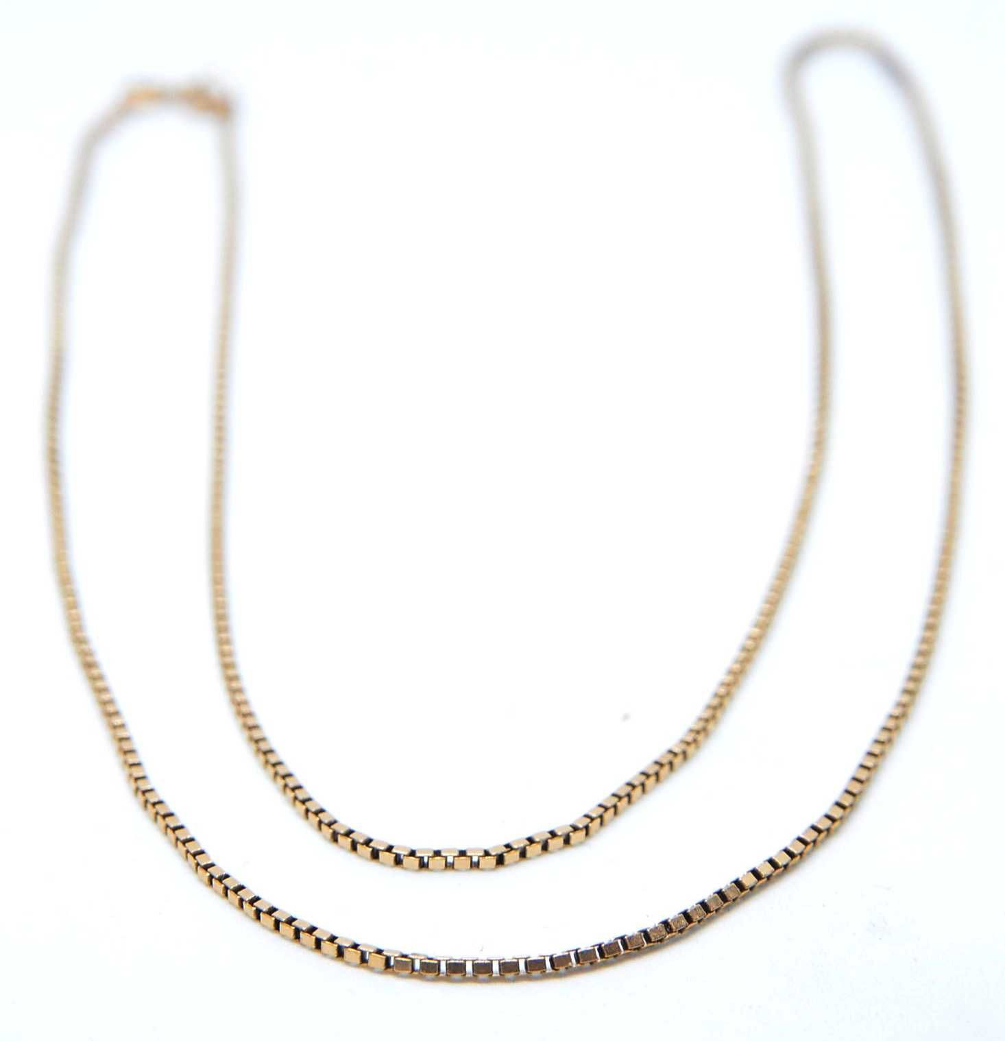 Złoty łańcuszek kostka 10k waga 5,02g długość 58cm Lombard Tarnów