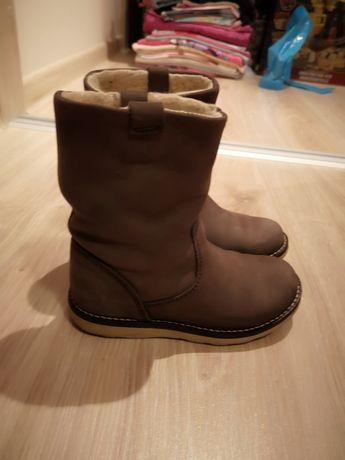 Kozaczki buty Zara skóra ocieplane 26