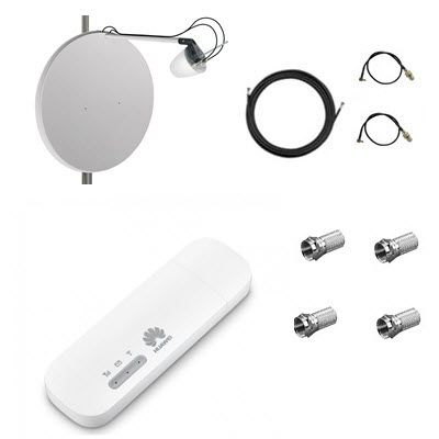 Комплект для 4G/3G интернета роутер Huawei E8372 + офсетная антенна