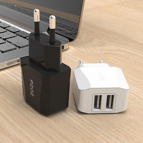 Оригинальное Зарядное устройство адаптер PZOZ 5V/2.1A на 2 USB порта