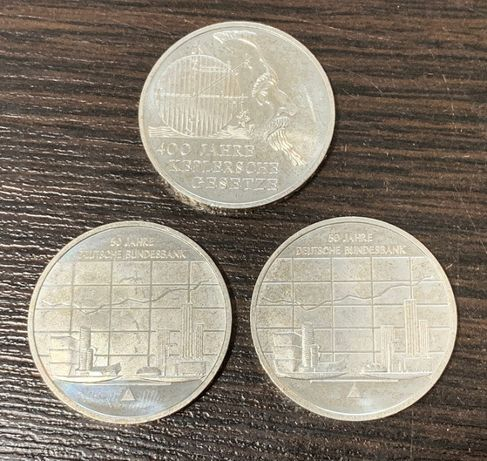 Zestaw 3 monet 10 Euro - Srebro 925 Keplersche Gesetze, Bundesbank