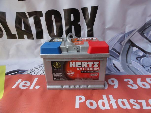 Akumulator Hertz silver 55 AH gwarancja 36 miesięcy