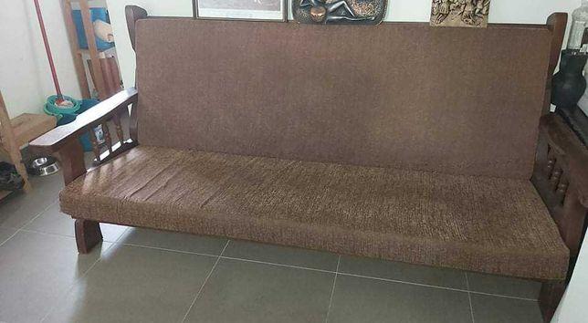 Conjunto de sofás madeira maciça vintage