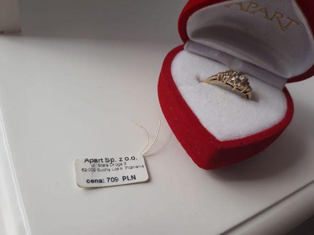 pierścionek złoty 585 rozmiar 17