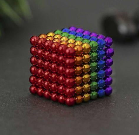 Неокуб neocube радуга разноцветный 5мм 216 магнитных шариков игрушка