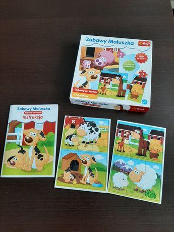 Puzzle układanki Zabawy Maluszka farma wiek 2+