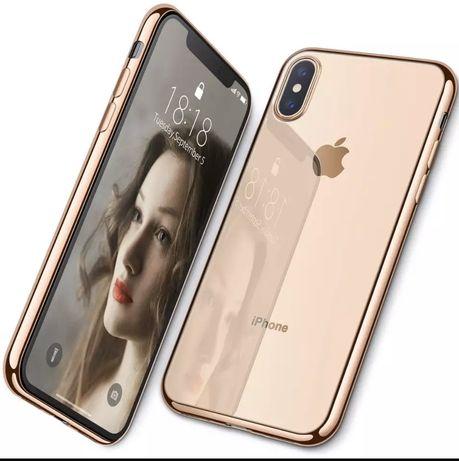 Etui case iphone XS X złote gold