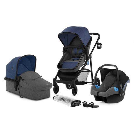 Wózek 3w1 Kinderkraft JULI +nosidełko wielobarwny