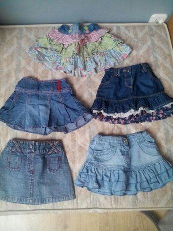 Jeansowe spódniczki 6-18 mc