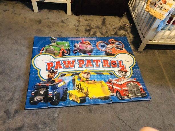 120x90 cm mata piankowa, puzzle piankowe PSI PATROL Okazja!