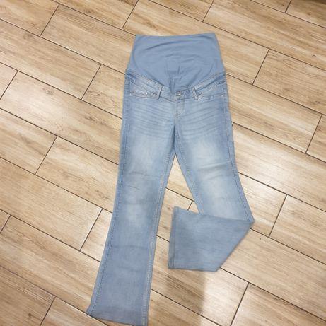 Spodnie jeansy ciążowe H&M bootcup high rib  r 38P M