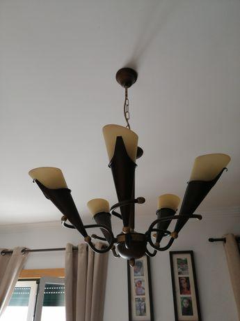 Candeeiro grande - encaixe para 5 lâmpadas