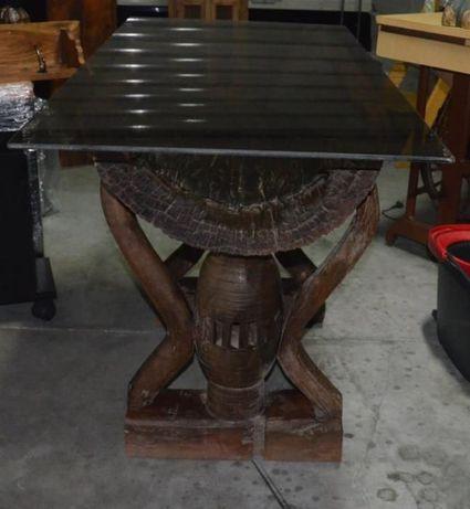 Mesa de Apoio Rústica em Madeira Maciça de Elevadíssima Qualidade