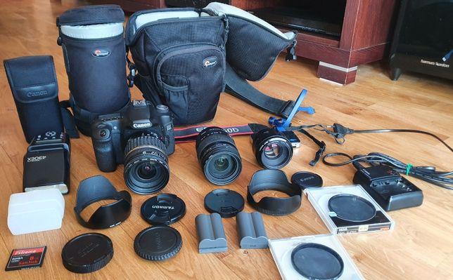 Lustrzanka Canon EOS 50D wraz z akcesoriami