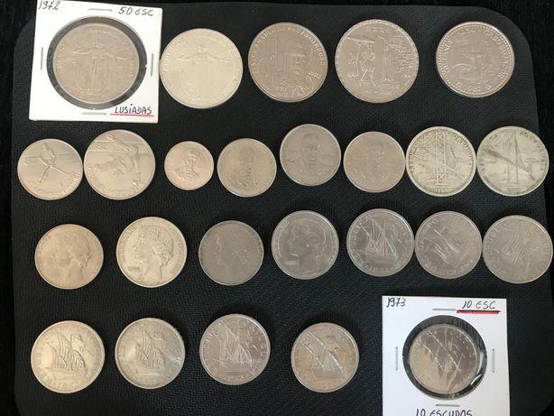 Lote Moedas comemorativas 1972 a 1993 e de dez e vinte e cinco escudos