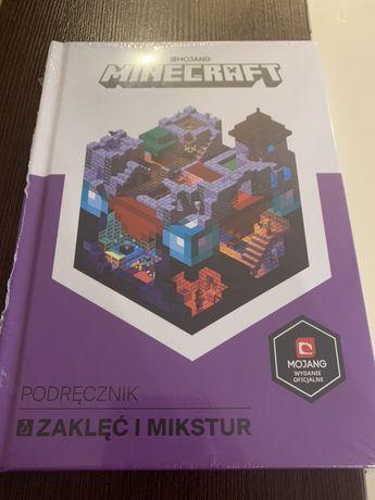 Książka Minecraft - Podręcznik zaklęć i mikstur nowa w folii