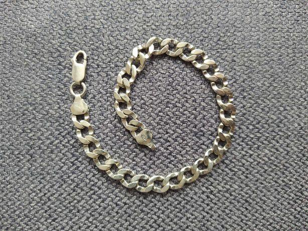 Męska srebrna bransoletka pancerka