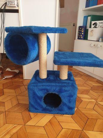Dwupoziomowy drapak dla kota z domkiem