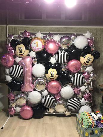 Фотозона, каркас для фотозоны, аренда фотозоны, шарики, шары, баннер
