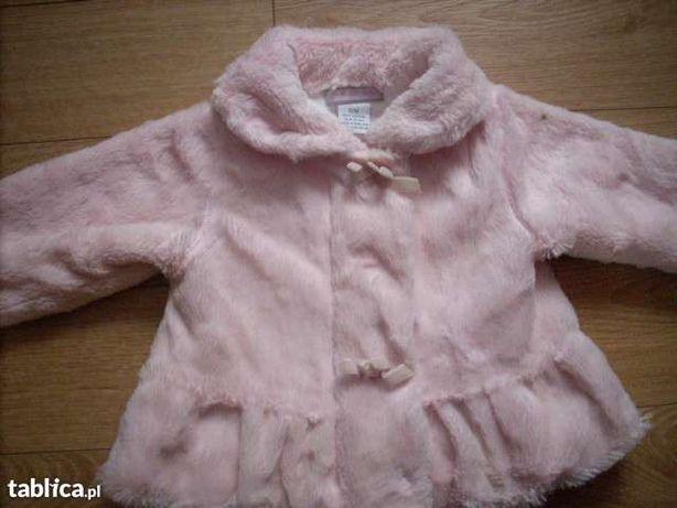 kożuszek-płaszczyk na jesień,zima różowy