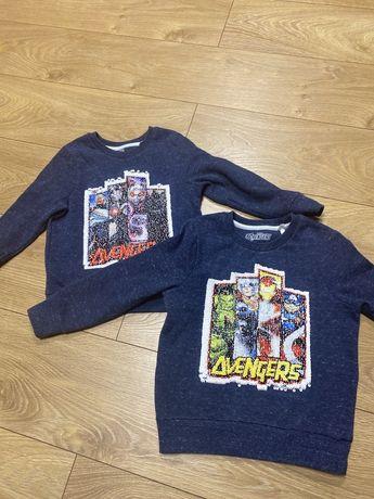 Bluza Avengers r 110 i 116 z cekinami
