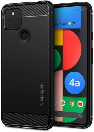 Spigen Rugged Armor etui Google Pixel 4a 5G czarne