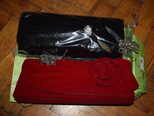 Акція! Нові 2 елегантні сумочки-конверти; модні клатчі