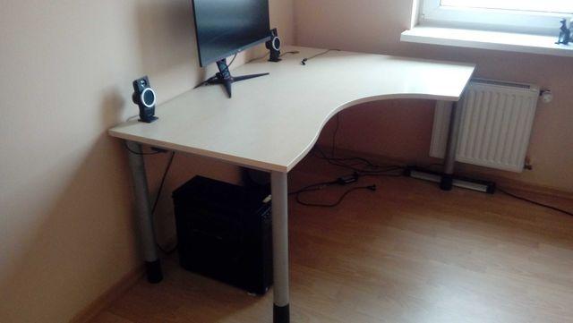 Biurko biurowe, duże solidne biurko narożne 120x160 regulacja / blat