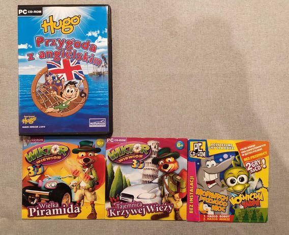 4 nowe płyty PC CD-ROOM - trzy gry dla dzieci + j.angielski