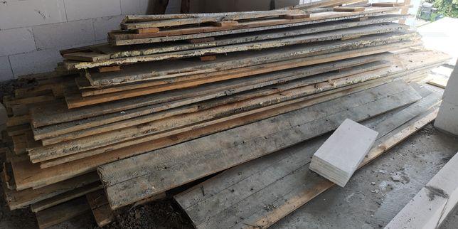 Deski szalunkowe po budowie