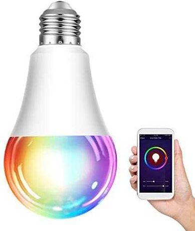 Novas! Lâmpadas RGBW WiFi Inteligente 7W 450lm Alexa Google