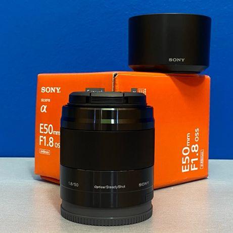 Sony E 50mm f/1.8 OSS (E-Mount) - NOVA - 2 ANOS DE GARANTIA