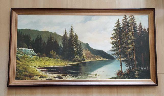 Obraz z jeziorem