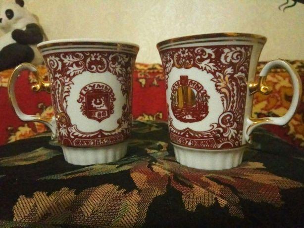 чашки в позолоте