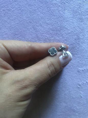 Серьги серебро Van Cleet